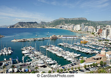 Aerial view of Calpe