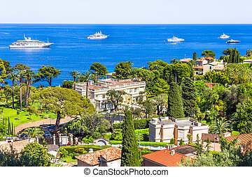 Aerial view of Cap Ferrat, French Riviera