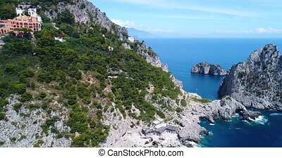 aerial view of Capri Island