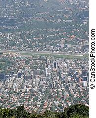 Aerial view of Caracas
