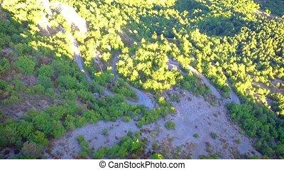Aerial view of Castellane valley