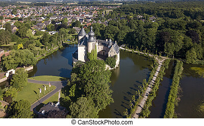 Aerial view of castle Gemen in Nordrhein-Westfalen