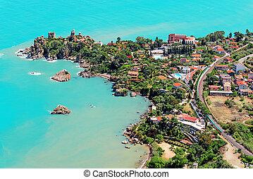 Aerial view of Cefalu