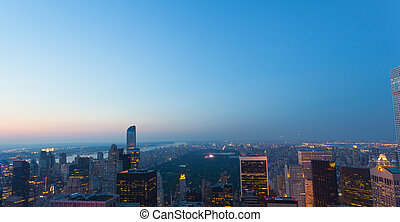 Aerial view of Central park in New york city