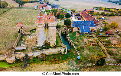 Aerial view of Chateau Sarzay