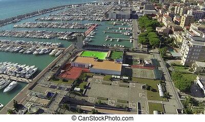 Aerial view of Chiavari, Italy