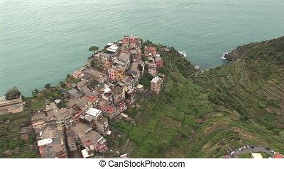 Aerial view of Cinque Terre