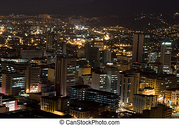 Modern Urban City At Night