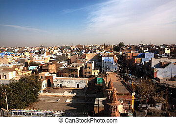 aerial view of city of Bikaner rajasthan state in india