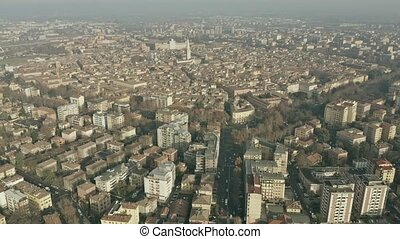 Aerial view of city of Modena. Emilia-Romagna, Italy -...