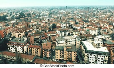 Aerial view of city of Treviso, Italy - Aerial view of city...