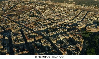 Aerial view of cityscape of Rome centre, Italy - Aerial view...