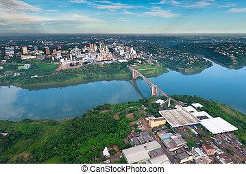 Aerial view of Ciudad del Este
