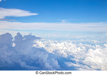 Aerial view of clouds and blue sky