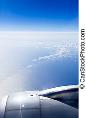 aerial view of clouds on sea