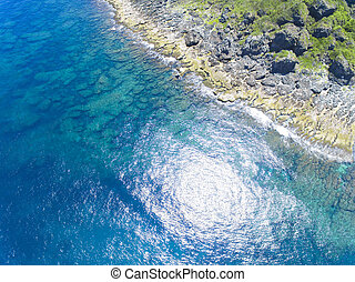 aerial view of  coastline kenting national park.Taiwan.