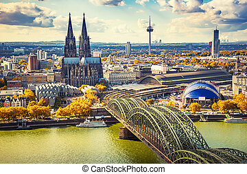 Aerial view of Cologne