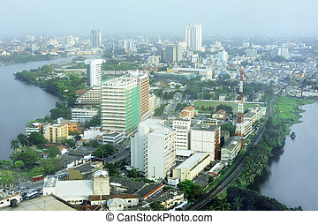 Colombo - Aerial view of Colombo from Colombo World Trade...