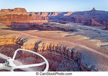 aerial view of Colorado RIver canyon