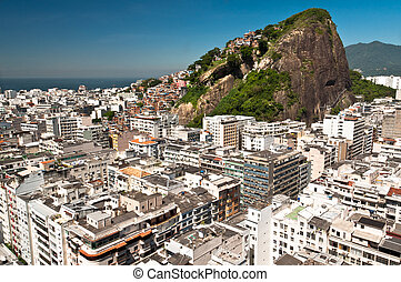 Aerial view of Copacabana district