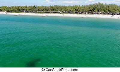 Aerial view of Coquina Beach, Anna Maria Island