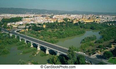 Aerial shot of Cordoba cityscape