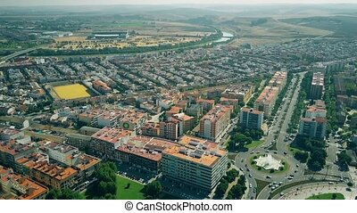 Aerial view of Cordoba suburbs, Spain - Aerial shot of...