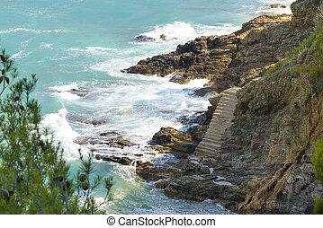 Aerial view of Costa Brava Seashore