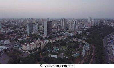 Aerial view of Costa do Sol, prestigious part of Maputo downtown, Mozambique