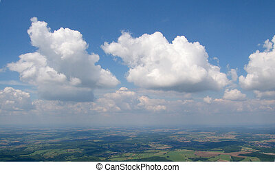 Aerial view of Cumulus - Aerial view from aeroplane of...