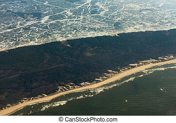 Aerial view of Curonian Spit