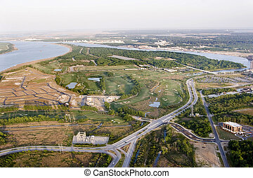aerial view of development - aerial view of new development...