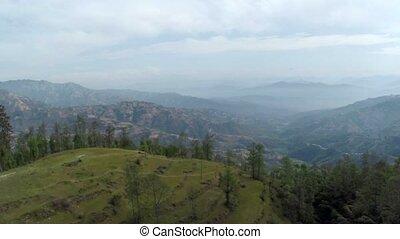 Aerial view of Dhulikhel, Nepal