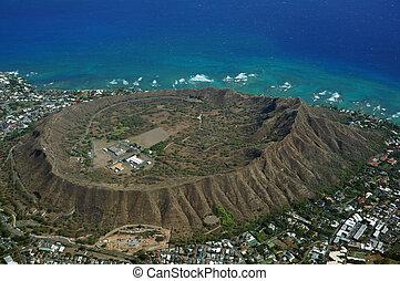 Aerial view of Diamondhead Crater