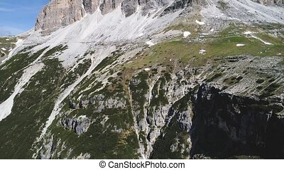 aerial view of Dolomites mountains in Italy - aerial view of...