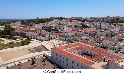 Aerial view of downtown of Lagos, south Portugal