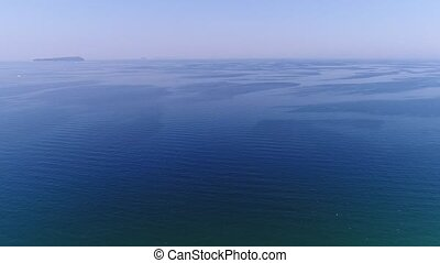 Aerial view of drone flying beautiful sea landscape