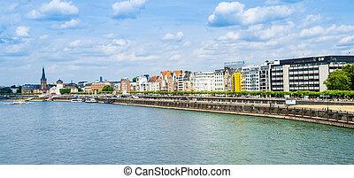Aerial View of Duesseldorf in Germany - Europe