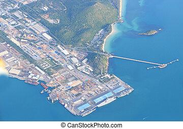 aerial view of durban harbour, Sattahip thailand
