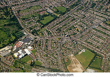 Aerial View of Elmers End and Beckenham, South London