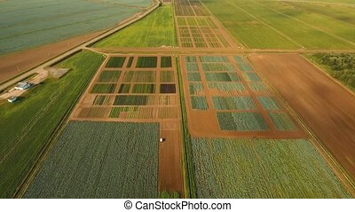 Aerial view of farmland. - Aerial view of agricultural,...
