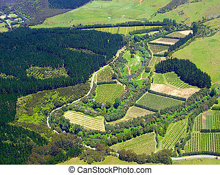 Aerial View of Farmland in Northland, New Zealand