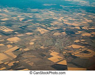 Aerial View of Farmland Surrounding Brisbane, AU