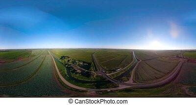 Aerial view of farmland VR360 - Aerial view VR360...
