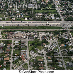Aerial view of Fort Lauderdale, Florida. - Aerial view of...