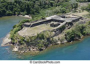 Aerial view of Fort Sherman