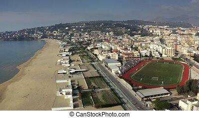 Aerial view of Gaeta coastline, Italy - Aerial view of Gaeta...