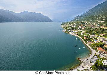 Aerial View of Garda Lake