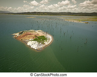Aerial View of Gatun Lake