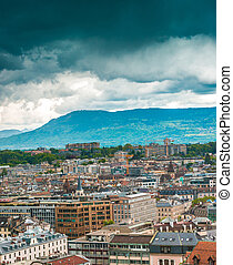view of Geneva Old Town